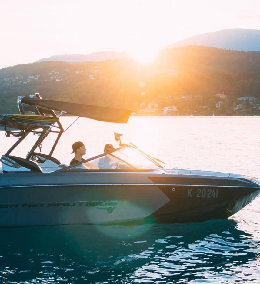 boat cruising on water